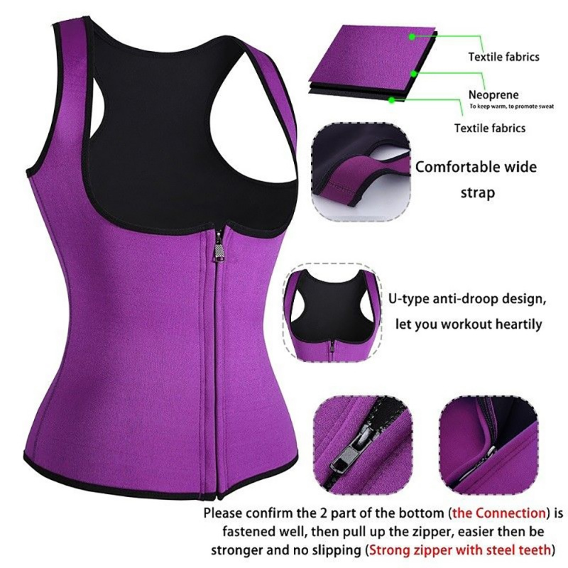 Back Support Usa Shipping Zip-style Ladies Vest Body Suit 5 Colors Optional Wear Comfortable And Practical Durable Effect Good Ladies Vest Wide Selection; Sports Accessories