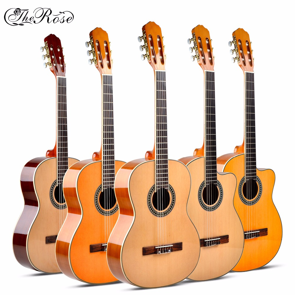 Guitare acoustique classique Flattop 39 pouces Flamengo Guitarra 6 cordes Picea Asperata tilleul Nylon lumière rouge corps taille Standard