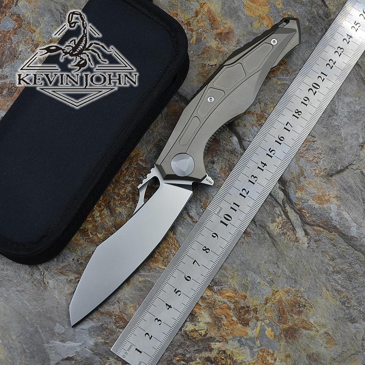 Кевин Джон сделать 0427 M390 лезвие TC4 Titanium Тактический шарикоподшипник Флиппер складной нож лагерь Открытый ножи для выживания EDC инструменты