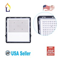 1 Pack Led 150W Outdoor Flood Light with Meanwell Driver,18000LM Daylight White 6000K 6500K Waterproof IP65 Garden Yard Lamp
