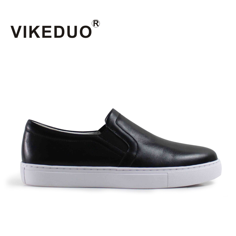 Vikeduo Fashion Black Womens Casual Shoes Loafers Round Toe Female Footwear Autumn Ladies Girls Flat Shoes Leather Moccasin fashion loafers women flat platform shoes moccasins air mesh round toe ladies footwear women summer casual shoes female dc64