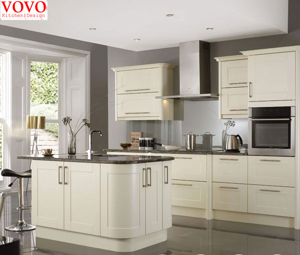White curved kitchen cabinet-in Kitchen Cabinets from Home ...