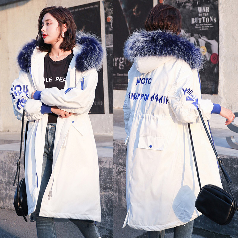Winter X-long parkas Women 2018 New Fashion Back Pocket thick warm big fur collar hooded female parka sintepon jacket coat M-2XL