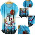 2016 Fashion new print dress bohemia women dress casual big size blouse shirt flower print floral plus size woman tunic top
