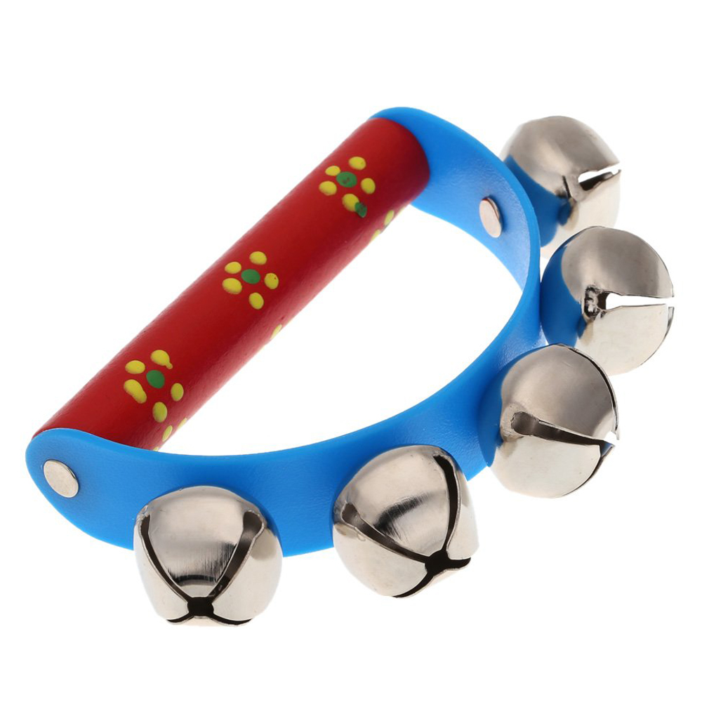 New Musical Toy for KTV Kids Little Hand Held Bell Metal Jingles Ball