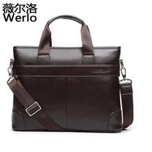 2017 New Men Casual Briefcase Business Shoulder Leather Messenger Bags Computer Laptop Handbag Men's Travel Bags handbags SJ111