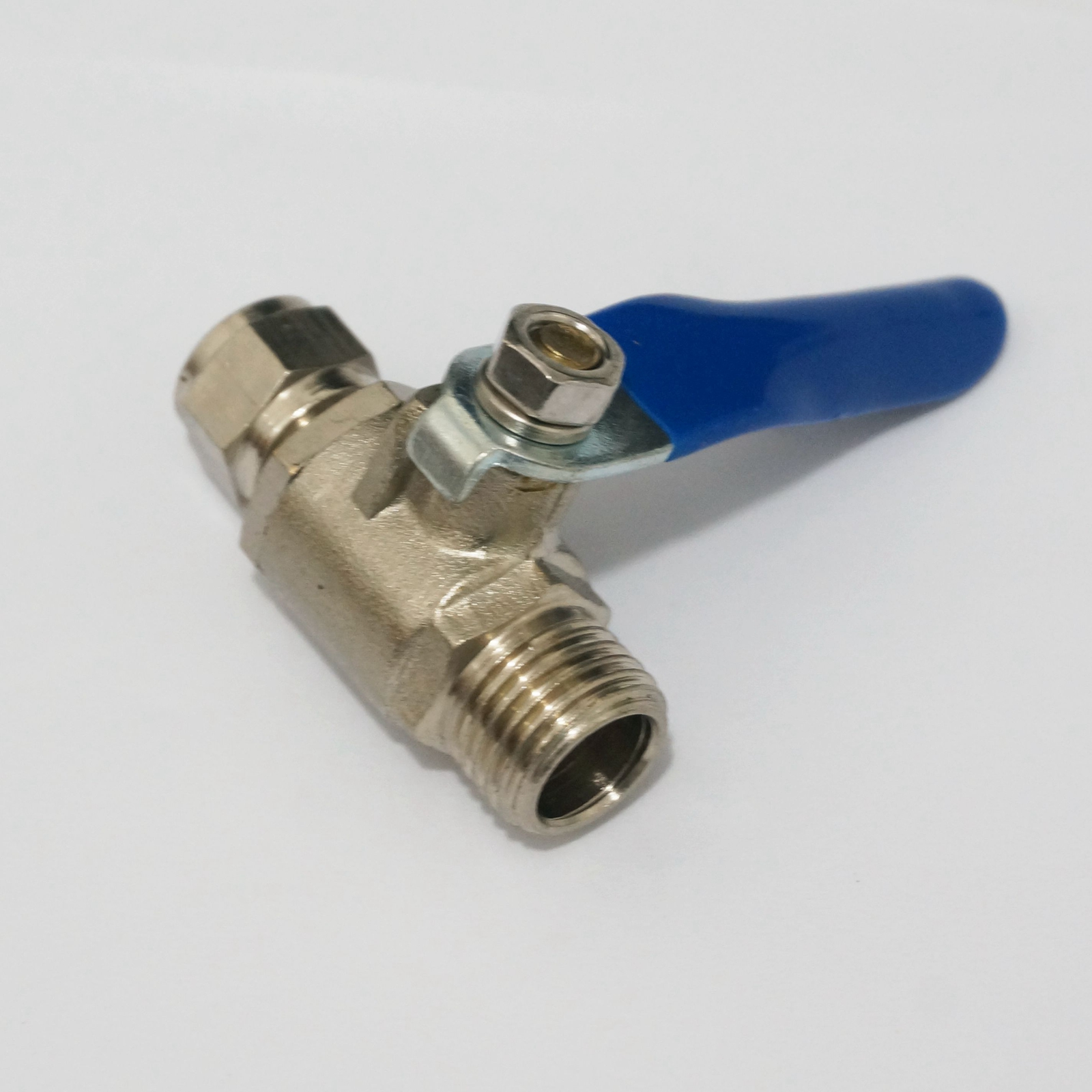 "1//4/"" Bsp Ball Valve Threads Tap Male Female Air Compressor Hose Brass Handl BY"