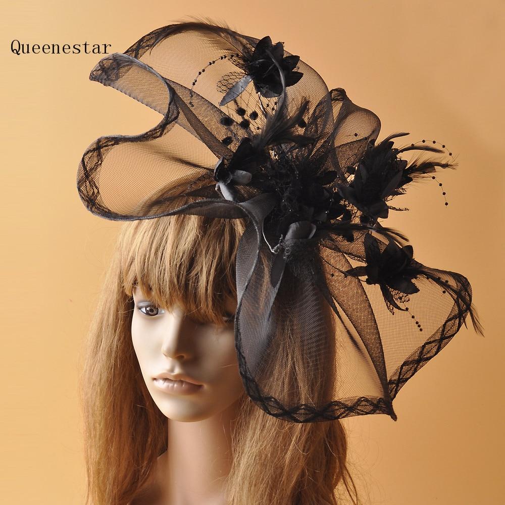 New Women Flower Hair Fascinator Hat Clip Big Wedding Bride Mesh Headwear  Vintage Women Party Kentury Derby Cocktail Fascinators c2272eb7c31