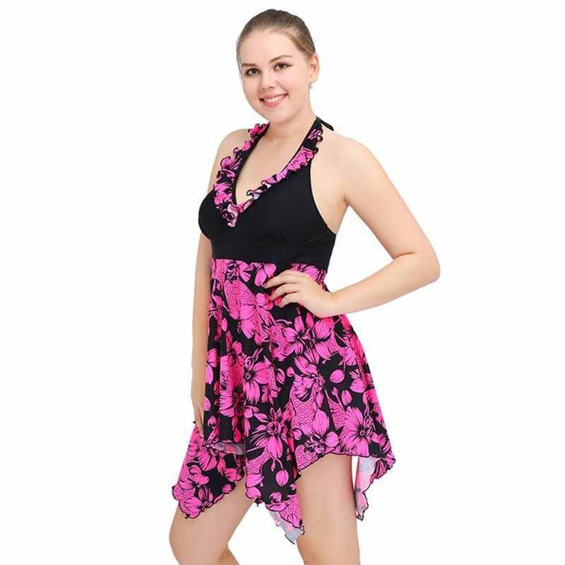 Боди цельный комбинезон женский пуш-ап плюс размер Сексуальная Пляжная одежда купальный костюм женский купальник платье Плюс Размер 6XL