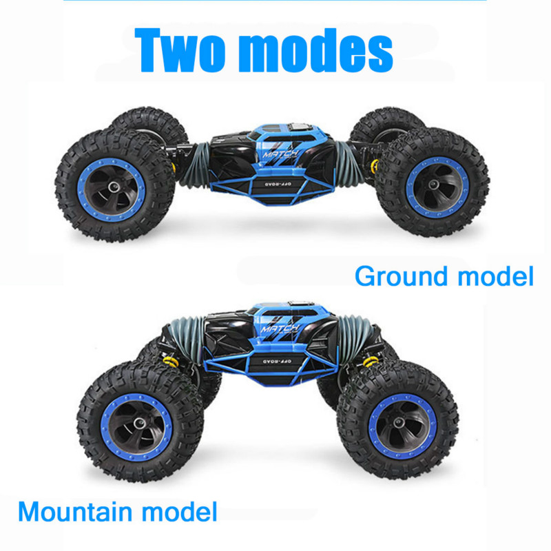 1:16 Scale Double-sided 2.4GHz RC Car One Key Transform All-terrain Off-Road Vehicle Varanid Climbing Truck Remote Control Toys double sided 2 4ghz rc car one key transform all terrain off road vehicle varanid climbing truck remote control toys