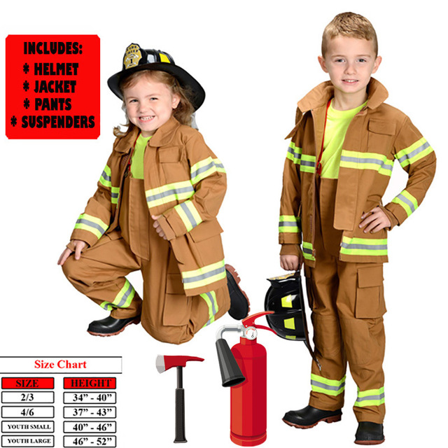 867cd0c4 firefighter uniform boys fireman costume fireman suit performance wear kids  halloween cosplay costume fire fighter life jacket