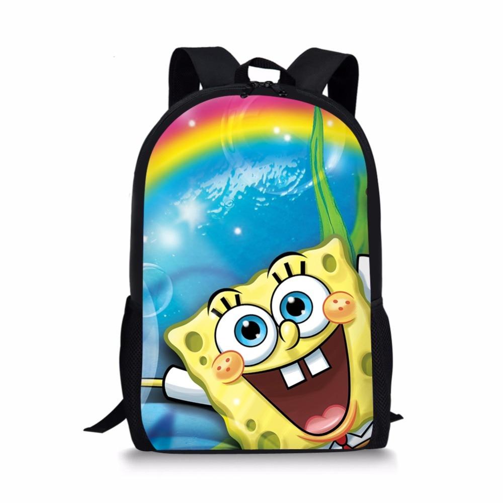 Kinder- & Babytaschen Schultaschen Spongebob Und Patrick Star 9-zoll Beste Geschenke Für Kinder Baby Runde Cartoon Rucksack Tasche Für Kinder Rucksack Tasche Für Mädchen Jungen