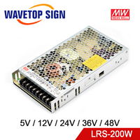Meanwell LRS 200 Single Output Switching Power Supply 5V 12V 24V 36V 48V 200W Original MW Taiwan Brand LRS 200 24