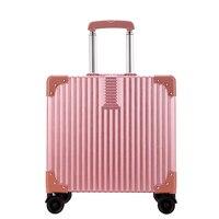 18 дюймов rolling Чемодан Spinner колеса чемоданы тележки Для мужчин ABS + PC Travel Bag багажник студент окно пароля Для женщин носить на Чемодан