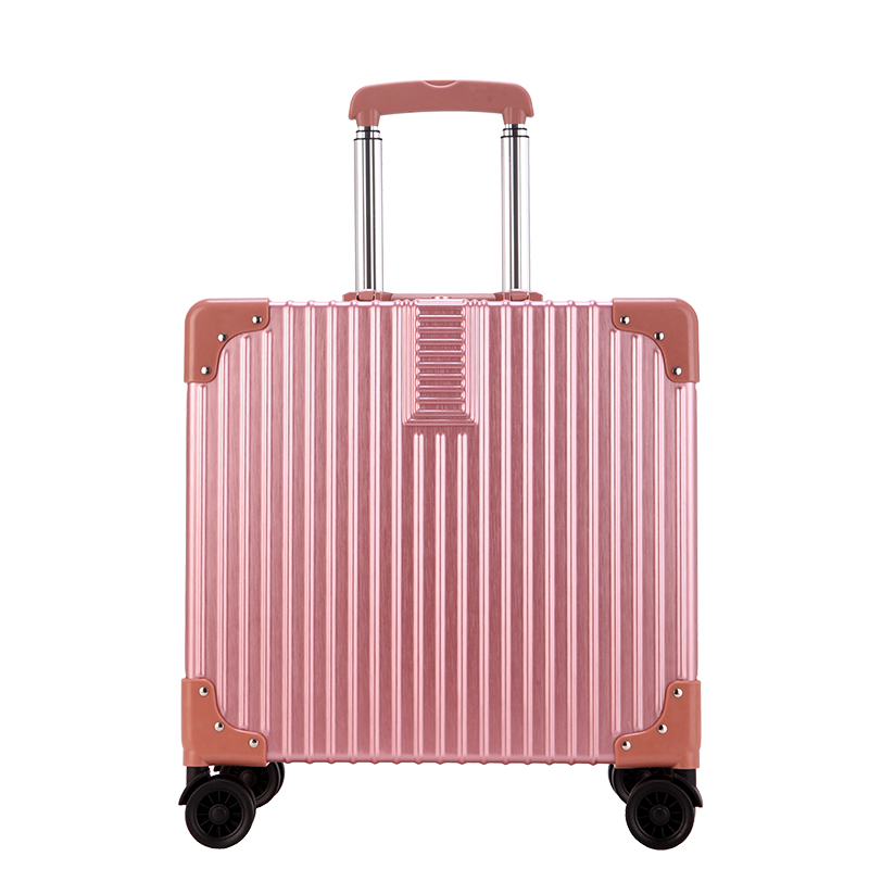 f5cc91524 18 inch Rolling Luggage Spinner Wheels Suitcases Trolley Men ABS+PC Travel  bag Trunk Student