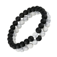 2pcs/set Distance Bracelet Pierre Naturelle Yin Yang Beads Bracelets for Women Men Couples Valentines Day Jewelry Gift pulseras