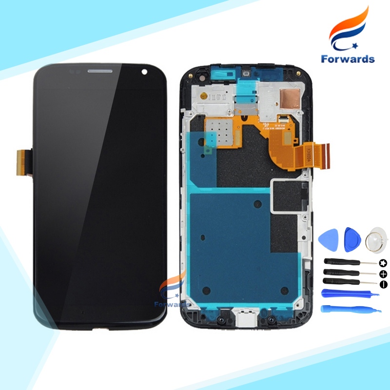1 Piece 100% Tested For Motorola Moto X XT1052 XT1053 XT1056 XT1058 XT1060 LCD Screen Display Touch Digitizer Assembly+Frame New