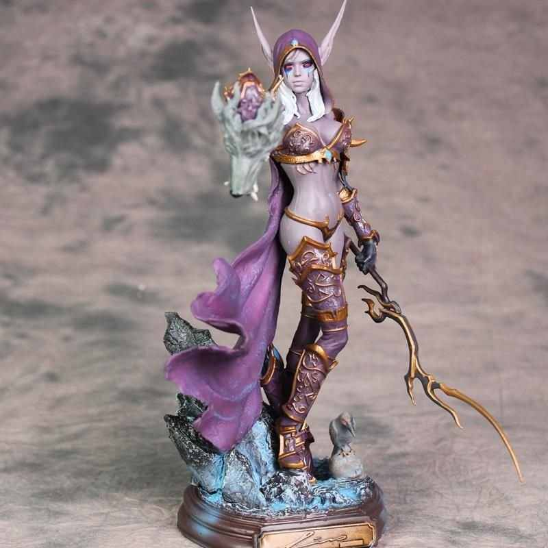 Anime 23CM Sylvanas Windrunner Archery Queen PVC Action Figure Model With Base for Children Birthday Gift