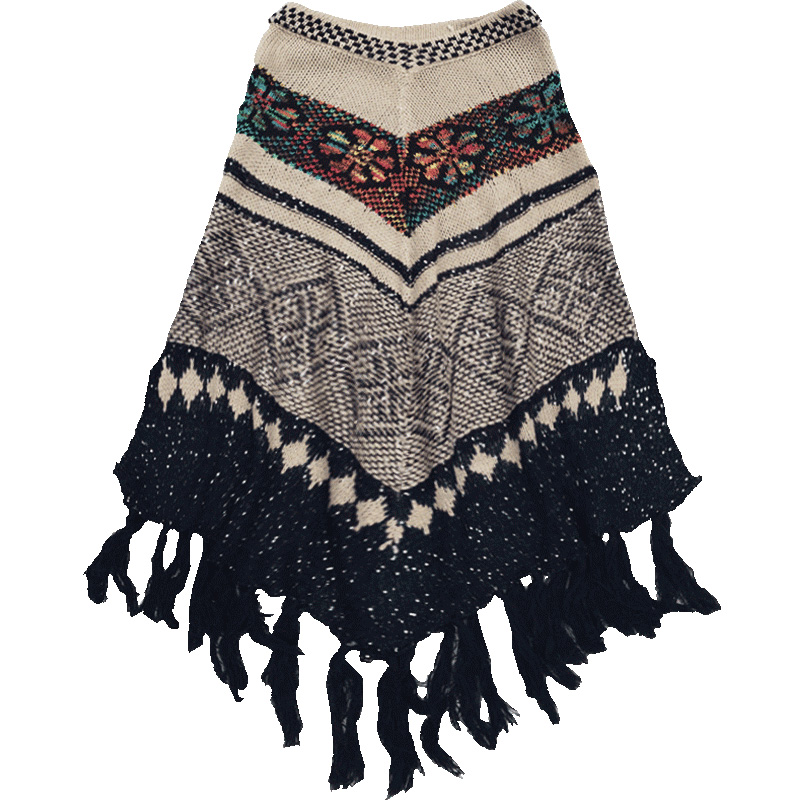 Tricoter Cape Tricoté Gris Hiver Femmes Pompon Imprimé souris Épais De V Automne Tops Pour À Chandail cou Pull Manches Chauve Luxe OEUI4Wqnyv