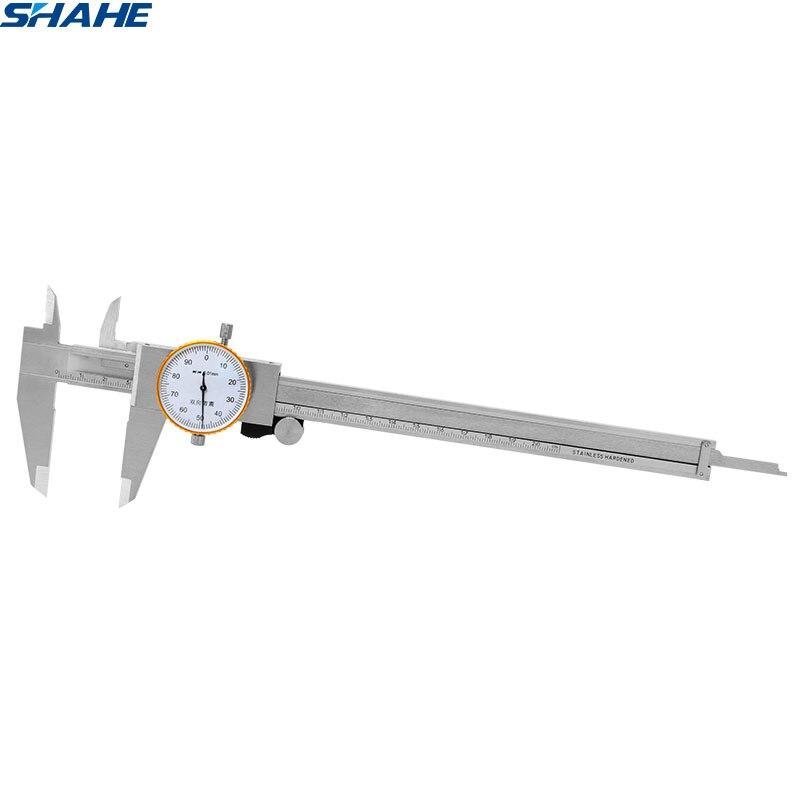 shahe metric gauge dial caliper 0 200 mm 0 01 mm stainless steel double Shock proof