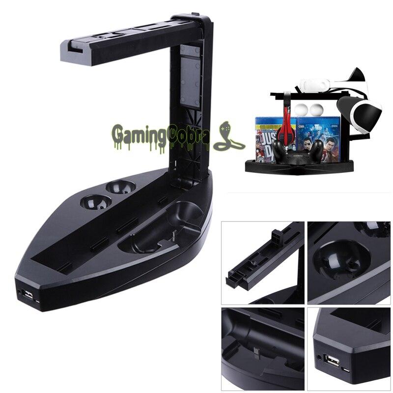 Charge multifonctionnelle a/présentoir pour Station de chargeur PlayStation VR PS4