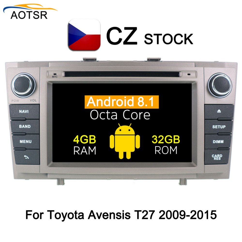 android 8 1 car dvd multimedia player for toyota avensis. Black Bedroom Furniture Sets. Home Design Ideas