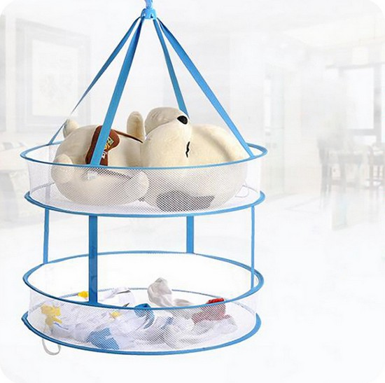 Basket Hook Laundry Folding-Drying-Clothes 1PC Big 043 Underwear Bilayer-Drying LF Windproof