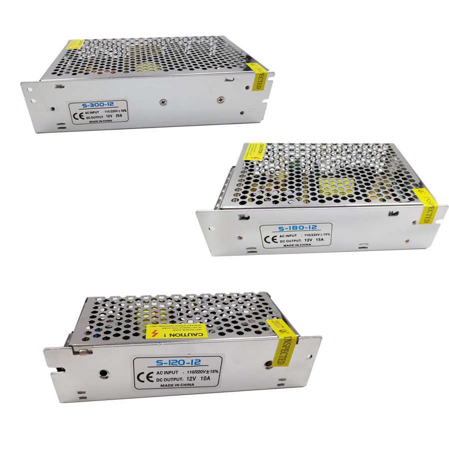 תאורת שנאי AC 110 V-220 V כדי DC 12 V 1.25A 3A 5A 6.5A 8.5A 10A 42A מתג מתאם נהג אספקת חשמל LED רצועת אור