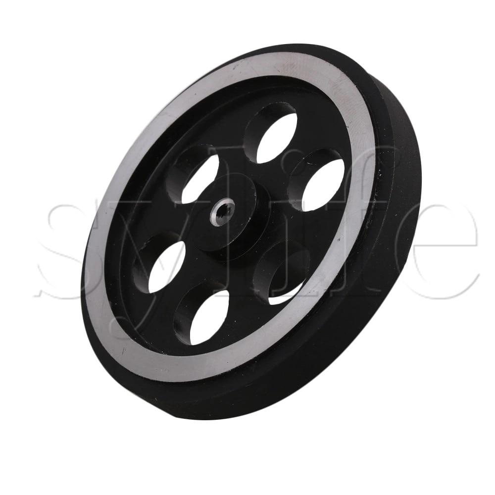 2 x 200mm.dia Solid Black Rubber Tyre Wheels 20mm roller bearing Trolley Truck*