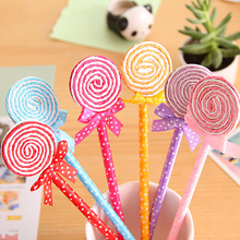 Cute candy style lollipop ballpoint pen Kawaii ballpoint pens for school Stationery Office supplies cute stationery 1 pcs beautiful feather pens ballpoint pen fashion accessories for writing school office supplies cute kawaii pen stationery