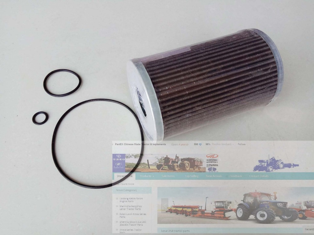 YTO tractor parts, the oil filter of hydraulic, part number: XLYQ-017-1 luoyang yto engine lr4108t53 parts the set of piston rings part number rb 050002 1 03 1 0200 1