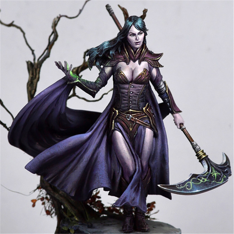 1/24 resin figures model kits Unpainted and not assembled Free shipping Dark Elf Female Magic game movie role