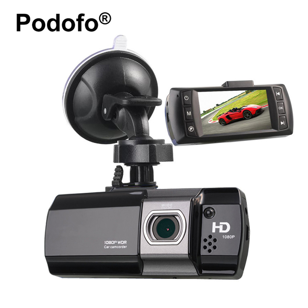 Podofo Видеорегистраторы для автомобилей Новатэк 96650 AT550 FHD 1080P 2,7 ЖК-дисплей автомобиля Камера Dashcam видео Регистраторы Ночное видение регистра...