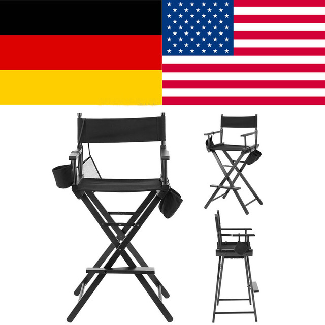 Professional Makeup Artist Directors Chair Wood Lightweight Foldable sillas para camping chaise de camping pliante taburete