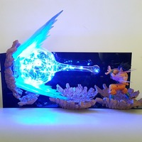 Dragon Ball Lamp Son Goku Led Night Lights Kamehameha Lampara Dragon Ball Goku Super Saiyan DBZ Table Lamp By EMS