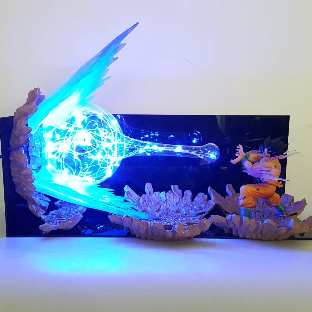 Dragon Ball Lampe Fils Goku Led Night Lights Kamehameha Lampara Dragon Ball Goku Super Saiyan DBZ Table Lampe Par SME
