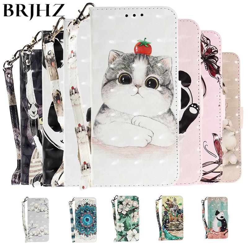 3D Flip Case on For Xiaomi Redmi Note 7 6 5 Pro 7A 6A S2 Leather Phone A2 Lite Cover