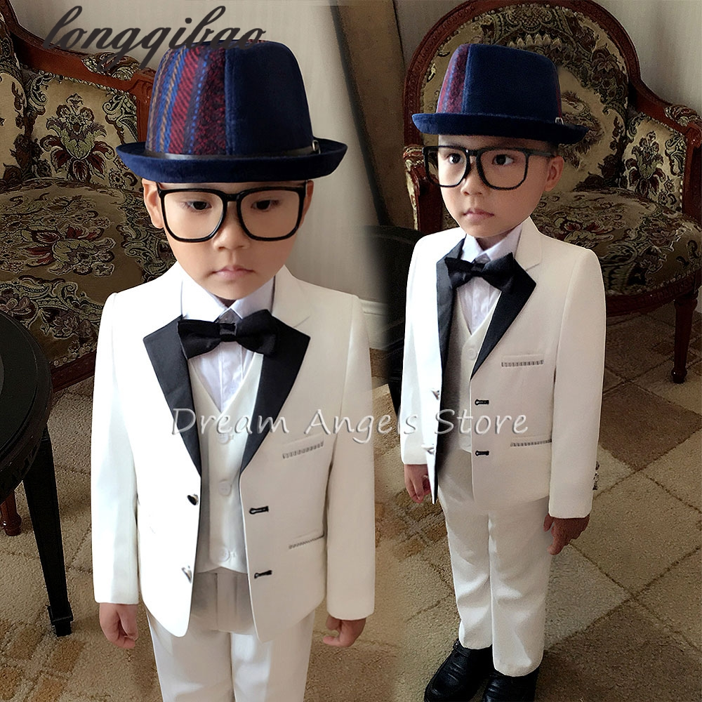 High quality 2016 new fashion boys children blazers suits boys suits for weddings formal white wedding suit flower boy suits 2016 new arrival fashion baby boys kids blazers boy suit for weddings prom formal wine red white dress wedding boy suits