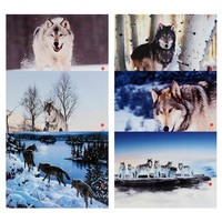 300 400mm Family Of Wolfs LED Light Picture Framed Canvas Picture Home Decor