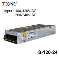 S-120-24 Power suply 24v 120w ac to dc power supply 120W 24V 5A ac dc converter power supply unit