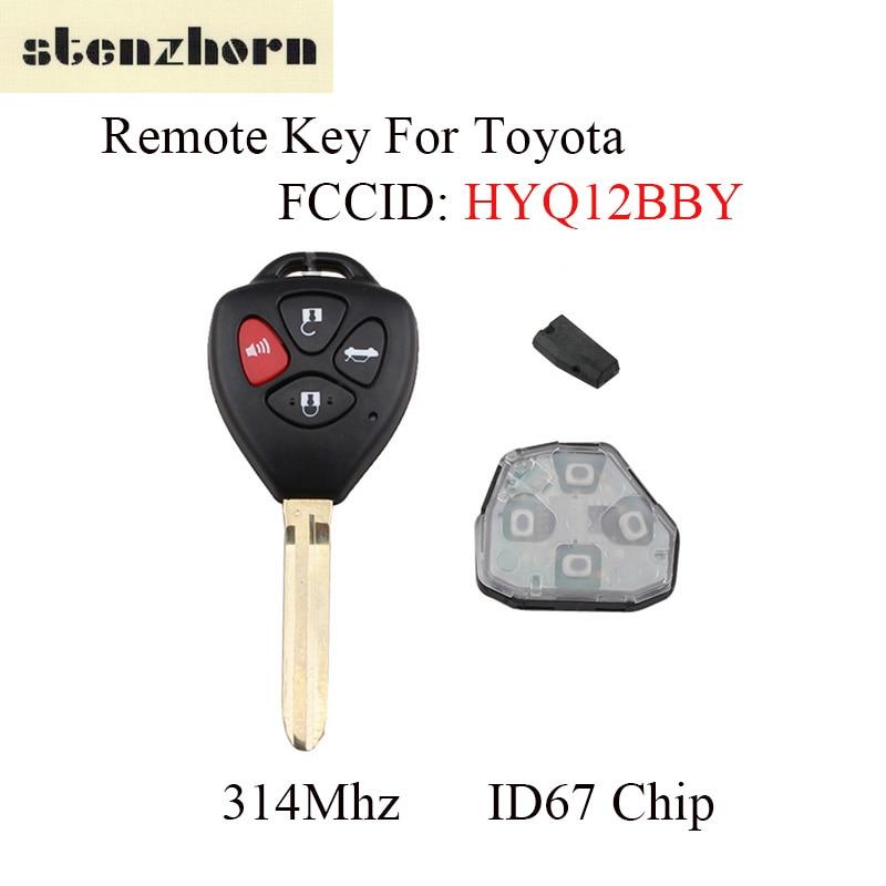 Stenzhorn 2X 4 кнопки 314 мГц автомобиля Замена дистанционного ключа для Toyota Camry 2007 2008 2009 2010 для Toyota HYQ12BBY лезвие + 4D67 чип