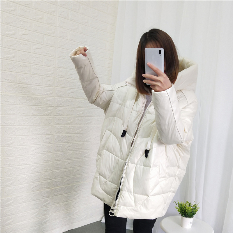 Winter   Coat   Women 2019 Winter New Collection Hooded Women's Winter Jacket Parka Female Thick Warm Loose   Coat   Duck   Down   Jacket