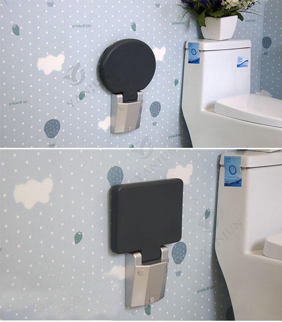 YANJUN Folding Wall Shower Seat Wall Mounted Relaxation Shower Chair ...