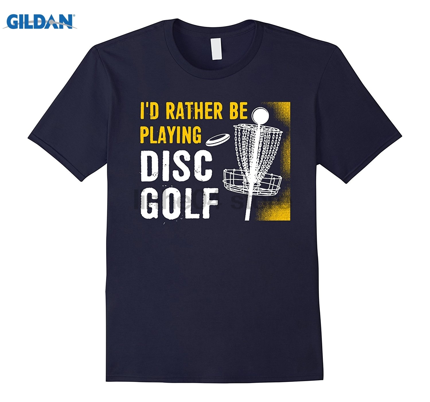 GILDAN Id Rather Be Playing Disc T-Shirt - Disc Golfing Tee