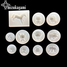 1pcs UV Resin Jewelry Liquid Silicone Mold Bear/Lion/Cow Animals Resin Charms Molds For DIY Intersperse Decorate Making Jewelry