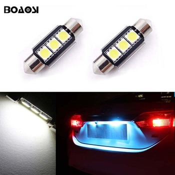 BOAOSI 2x Canbus No Error 36MM C5W LED License Plate Light for Mercedes Benz W208 W209 W203 W169 W210 W211 W212 AMG CLK image
