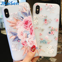Flower Silicon Phone Case For iPhone X 8 7 6 6S Plus 5 SE Rose Floral Cases For iPhone 7 8 Plus XS Max XR Soft TPU Cover Coque цена и фото