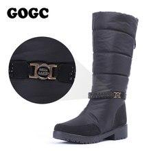 Купить с кэшбэком GOGC Waterproof Winter Boots Women Snowboots  Warm Winter Shoes Women Big Size Comfortable Brand Women Boots Knee High 9890