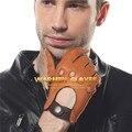 ЭЛМА мужскике кожаные перчатки для вождения без подкладки 100% оленьей кожи автомобильные перчатки водительские перчатки натуральная кожа,перчатки водительские мужские em002w