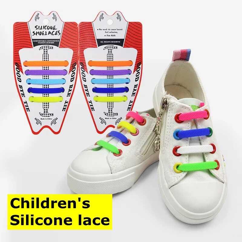 10 ชิ้น/ล็อตเด็กใหม่ซิลิโคน Shoelaces No Tie Laces รองเท้าเด็ก Lacing ซิลิกาเจลเชือกผูกรองเท้าสะดวก Lazy Laces